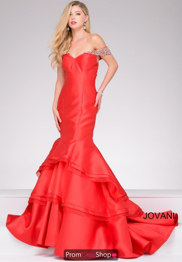 Jovani Fitted Taffeta Dress 46610