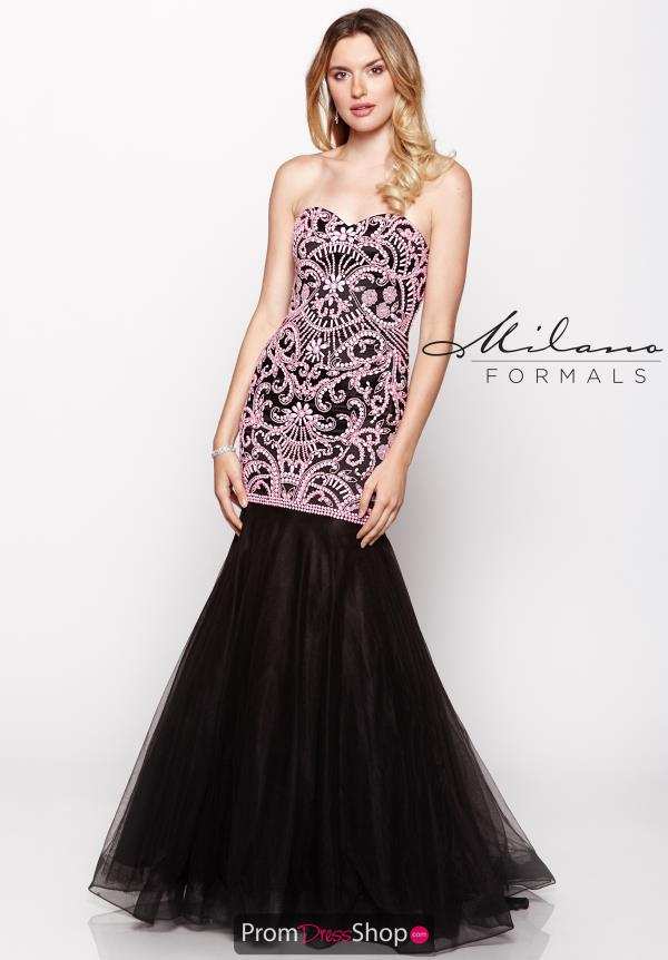 Beaded Mermaid Milano Formals Dress E1976