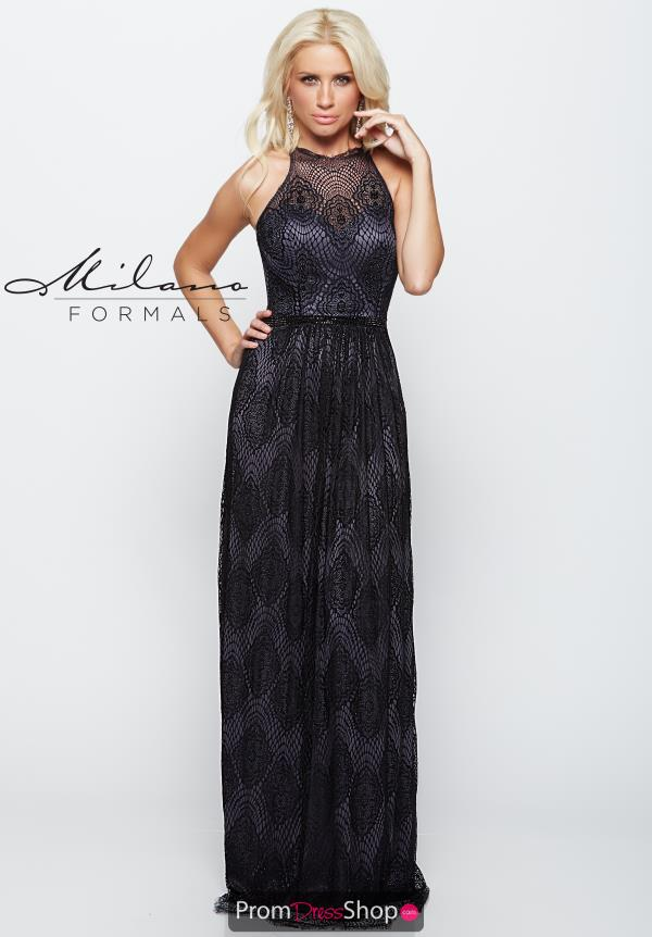 Milano Formals Long Beaded Dress E2072
