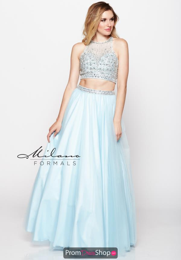 Milano Formals High Neckline Long Dress E2097