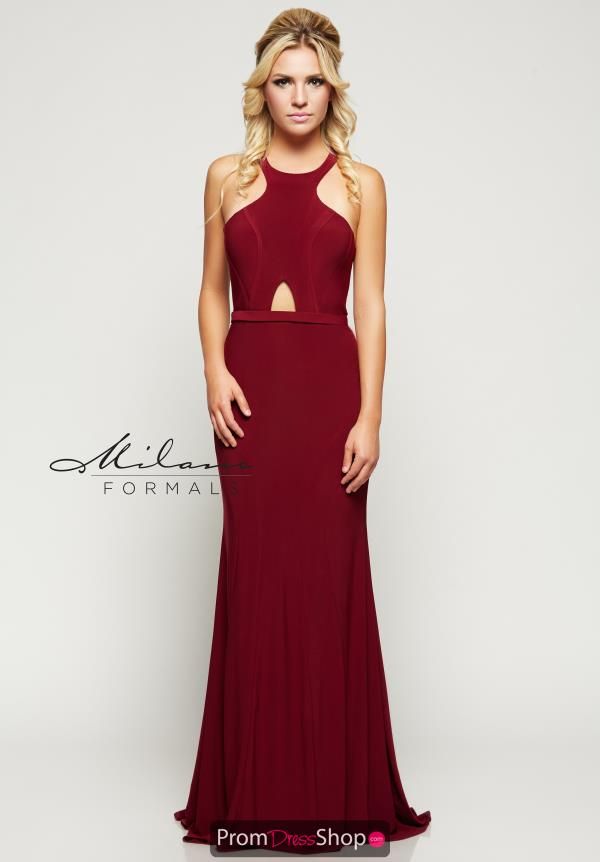 Milano Formals Red Jersey Dress E2101