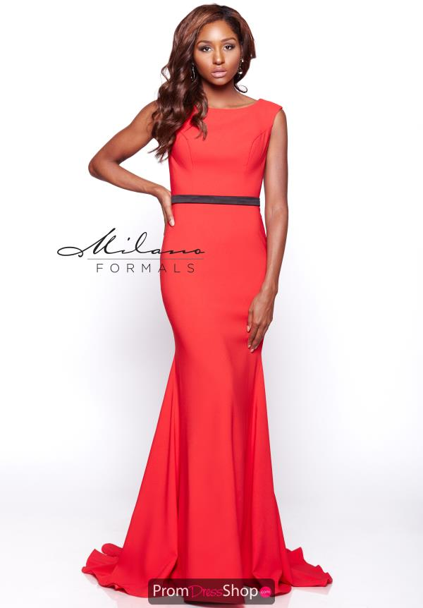 Long Fitted Milano Formals Dress E2109