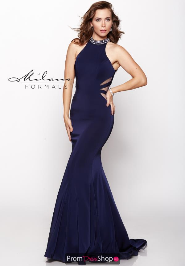 Milano Formals Fitted Long Dress E2113