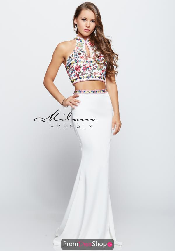 Milano Formals Two Piece Beaded Dress E2116
