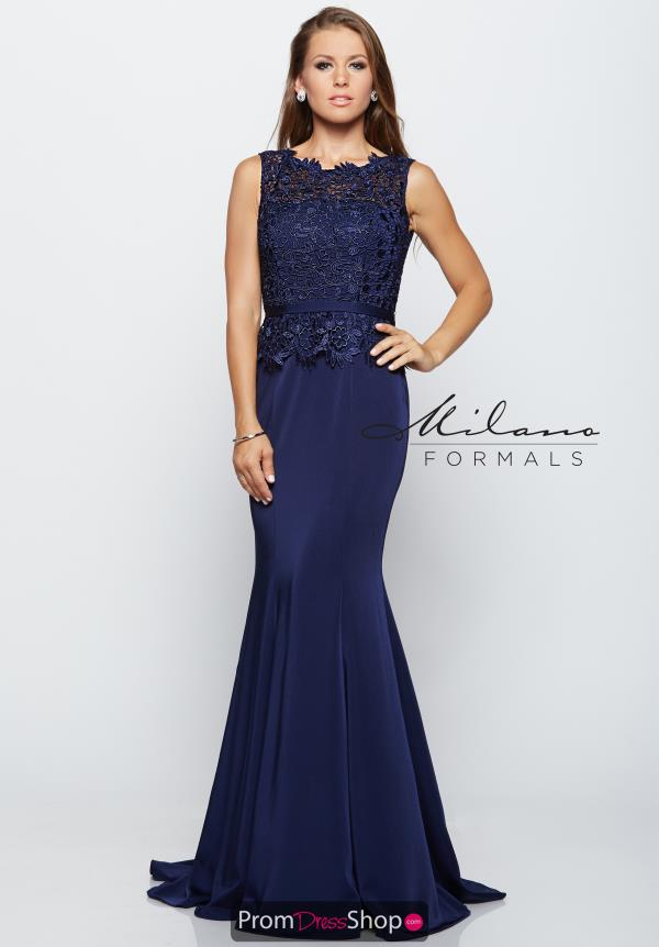 Milano Formals High Neckline Fitted Dress E2121