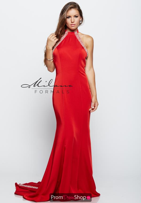 Milano Formals High Neckline Fitted Dress E2133
