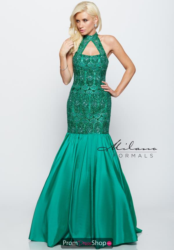 Milano Formals Mermaid Beaded Dress E2145