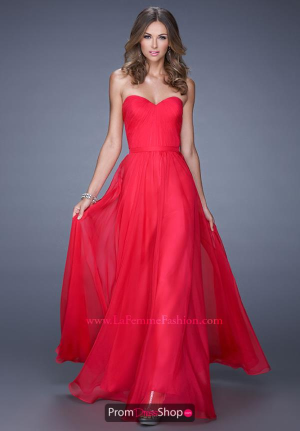 Fabulous Long La Femme Prom Dress 20808