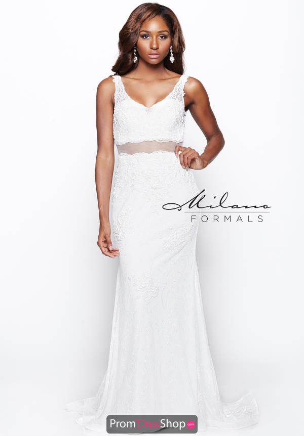 Milano Formals Lace Fitted Dress AA9323