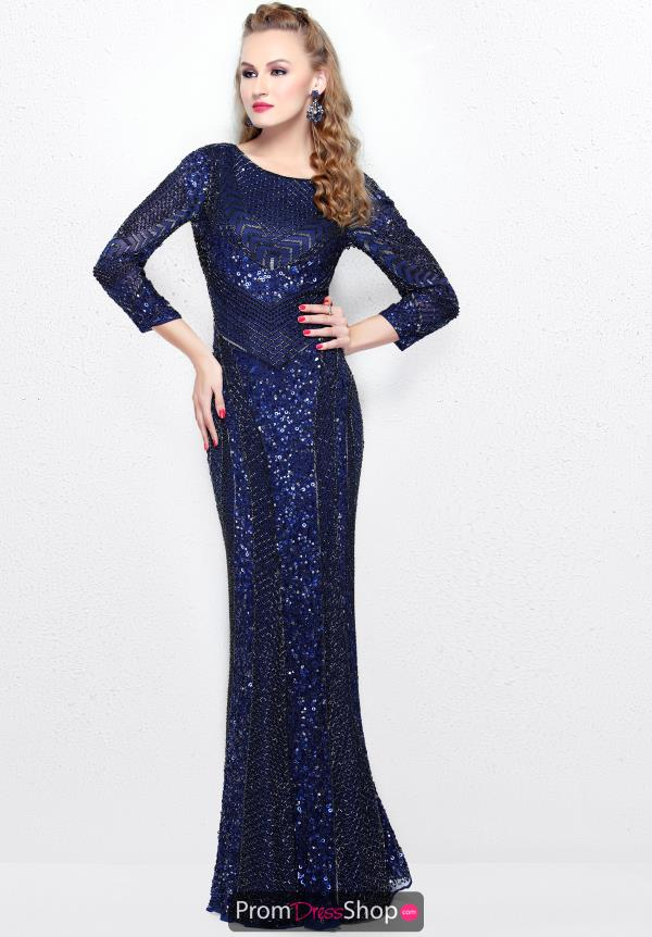 Primavera Beaded Long Dress 1683