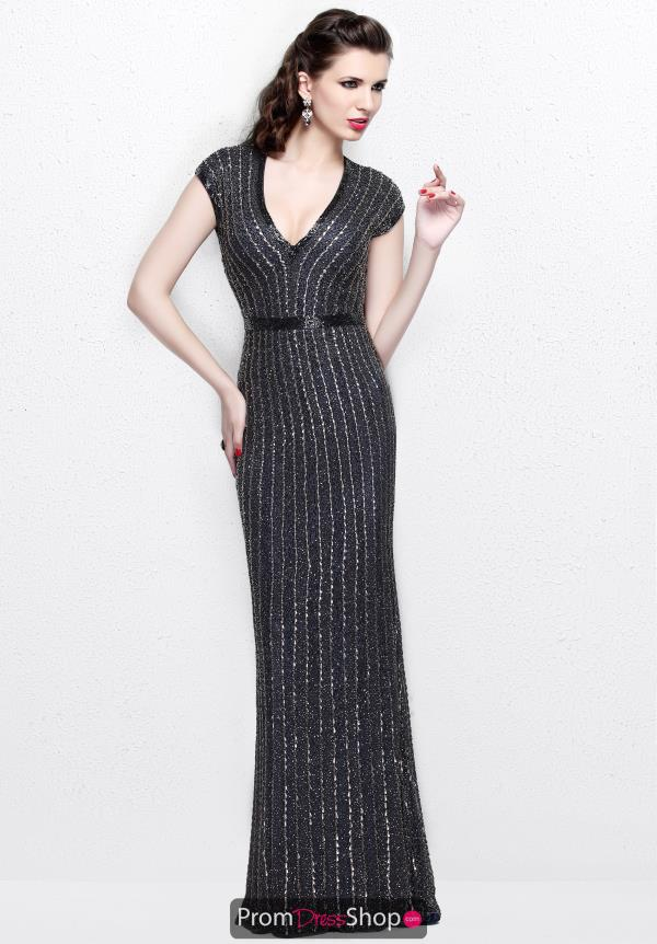 Primavera V Neckline Beaded Dress 1709