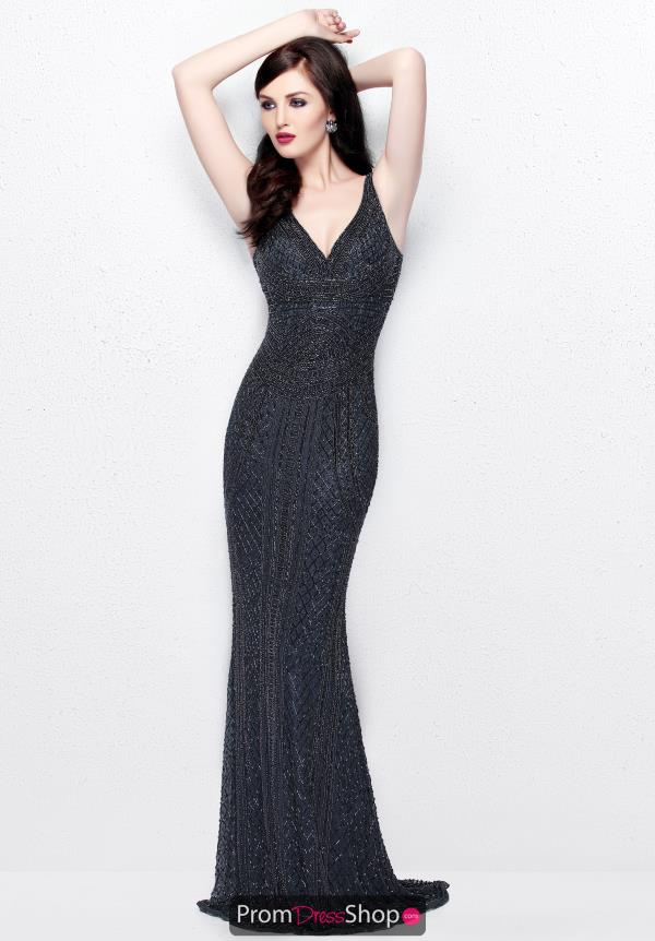 Primavera V Neckline Beaded Dress 1726