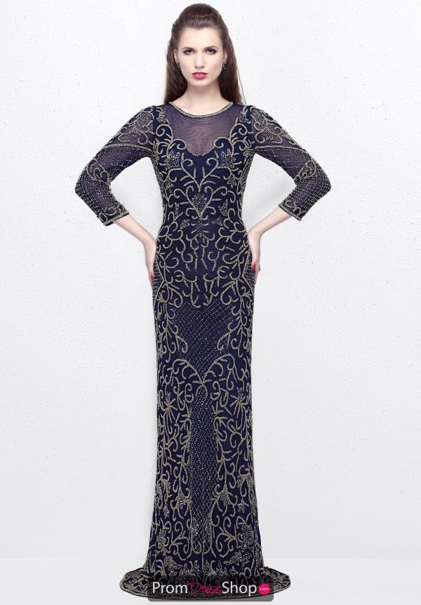 Primavera High Neckline Beaded Dress 1749