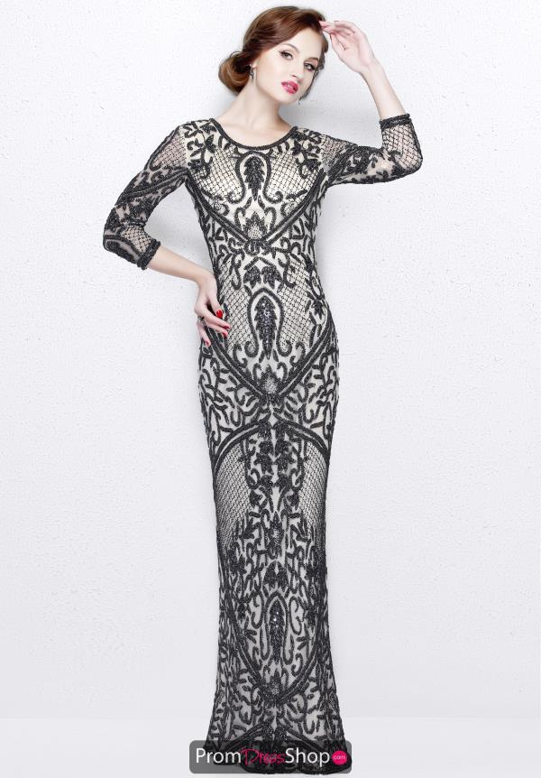 Primavera High Neckline Beaded Dress 1759