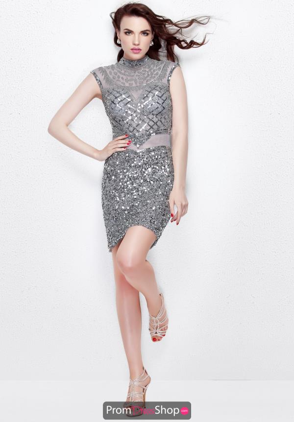Primavera High Neckline Fitted Dress 1661