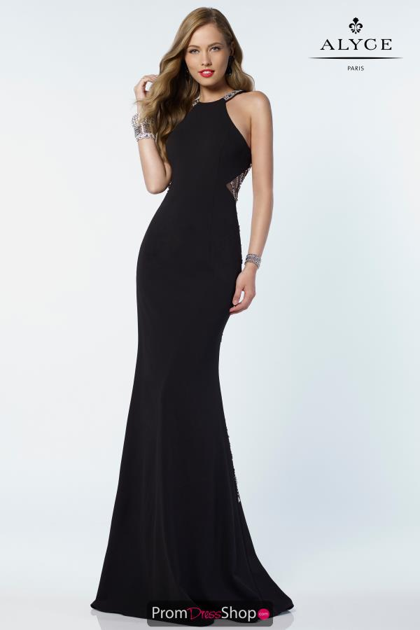 Alyce Paris Halter Long Dress 6698