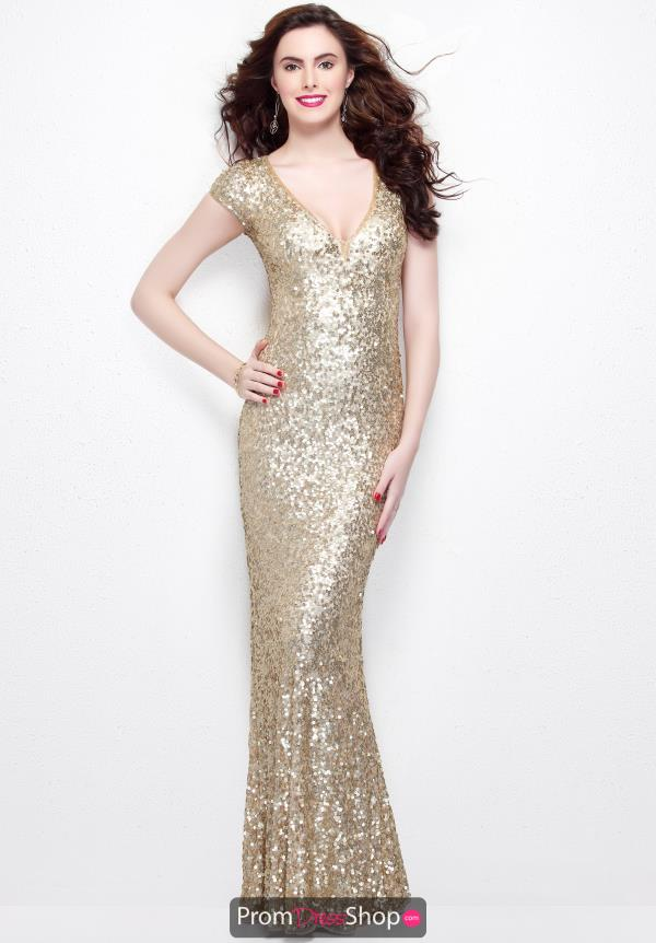 Primavera V Neckline Beaded Dress 1252
