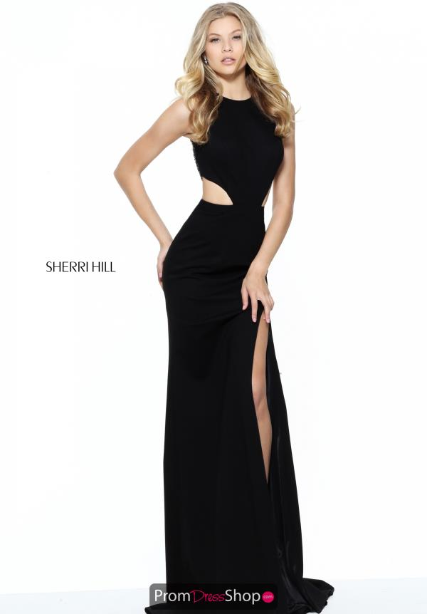Halter Top Fitted Sherri Hill Dress 50867