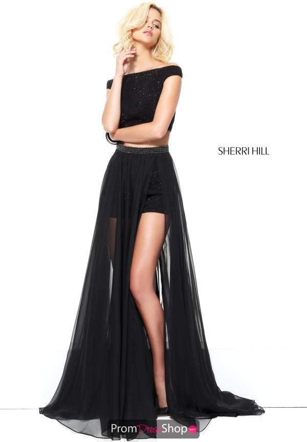 Sherri Hill Long Winter Formal Fitted Dress 50875