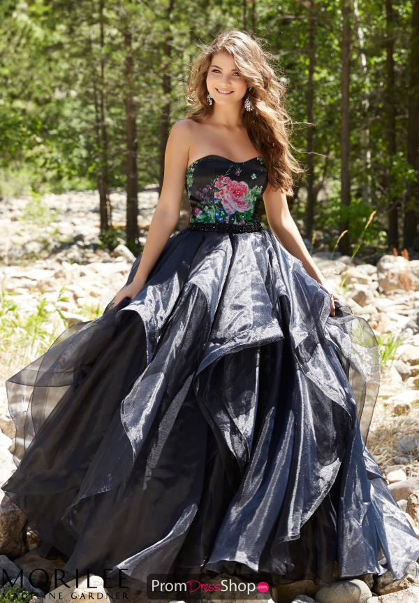 Mori Lee A Line Organza Dress 99006