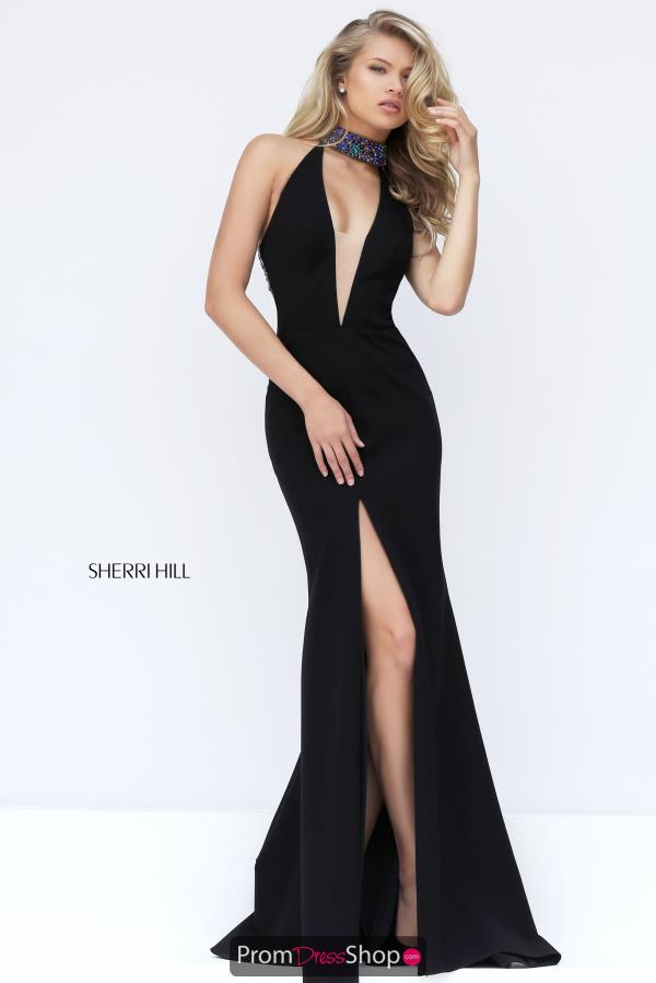 Sherri Hill V- Neckline Long Dress 50702