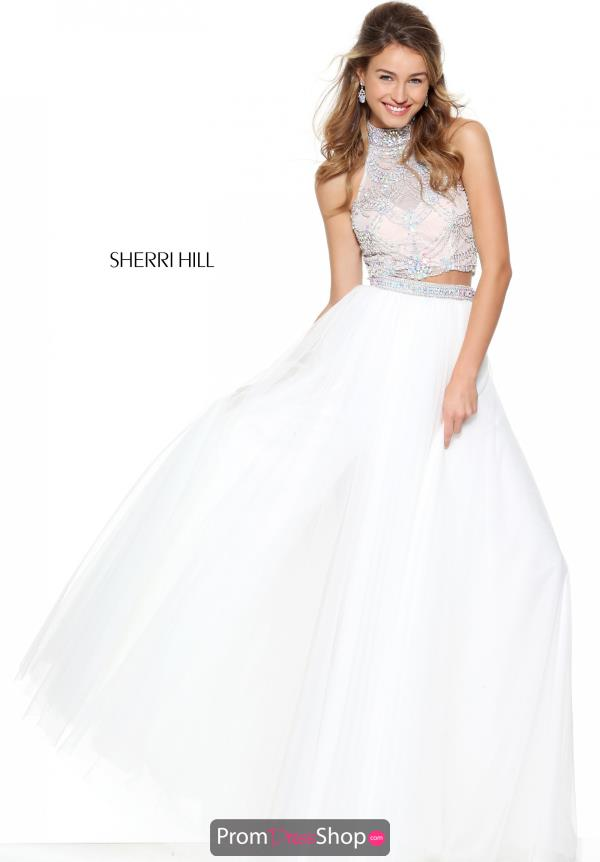 Sherri Hill High Neckline Beaded Dress 50704