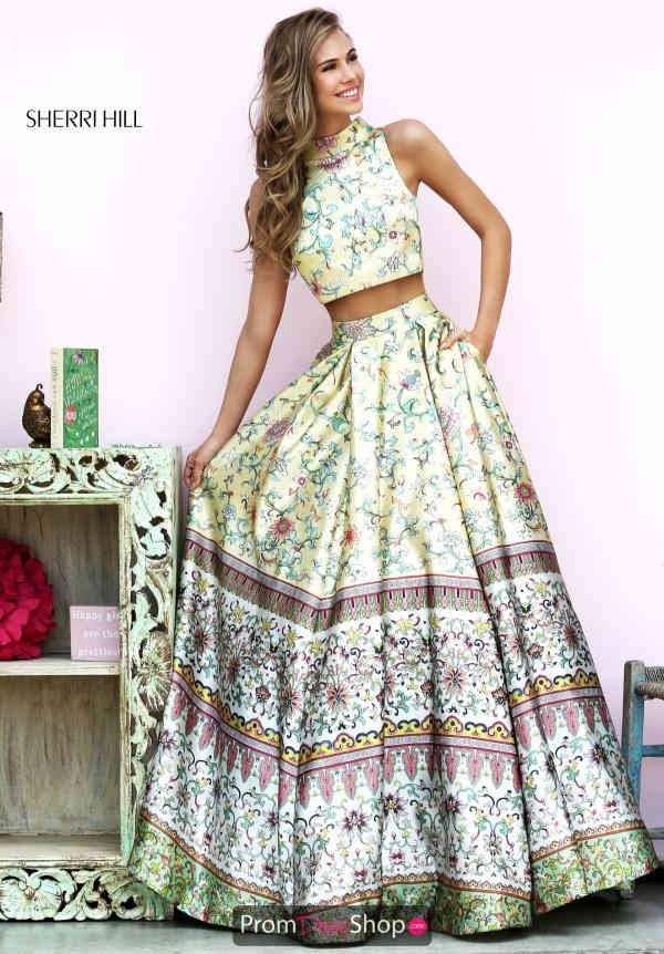 Two Piece Sweet 16 A Line Sherri Hill Dress 50783