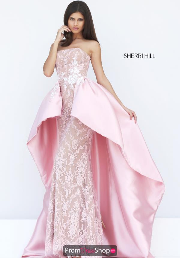 Strapless Fitted Sherri Hill Dress 50842