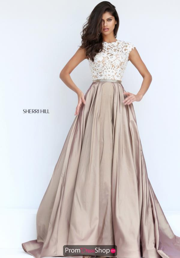 Champagne Dresses at Prom Dress Shop.
