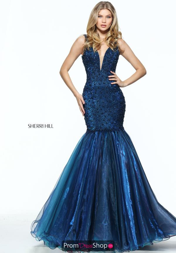 Sherri Hill Long Fitted Dress 50848