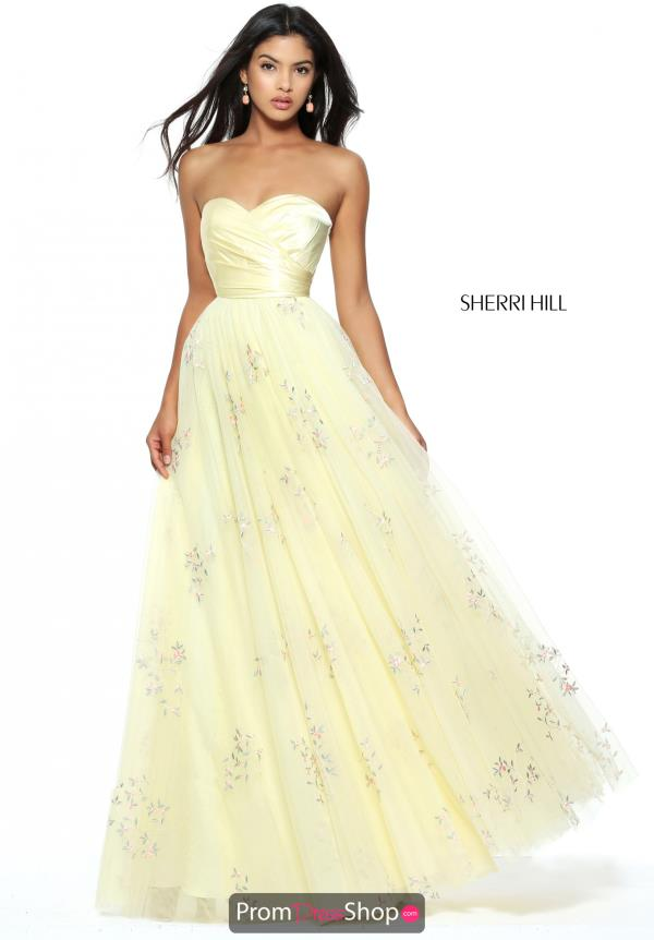 Strapless A Line Sherri Hill Dress 50883