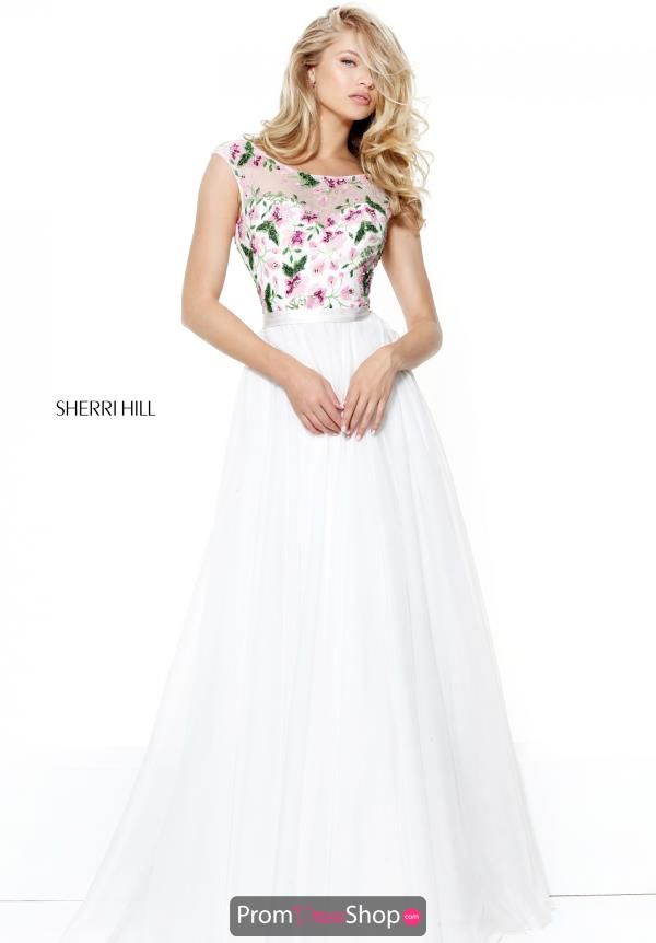Sherri Hill High Neckline Beaded Dress 50904