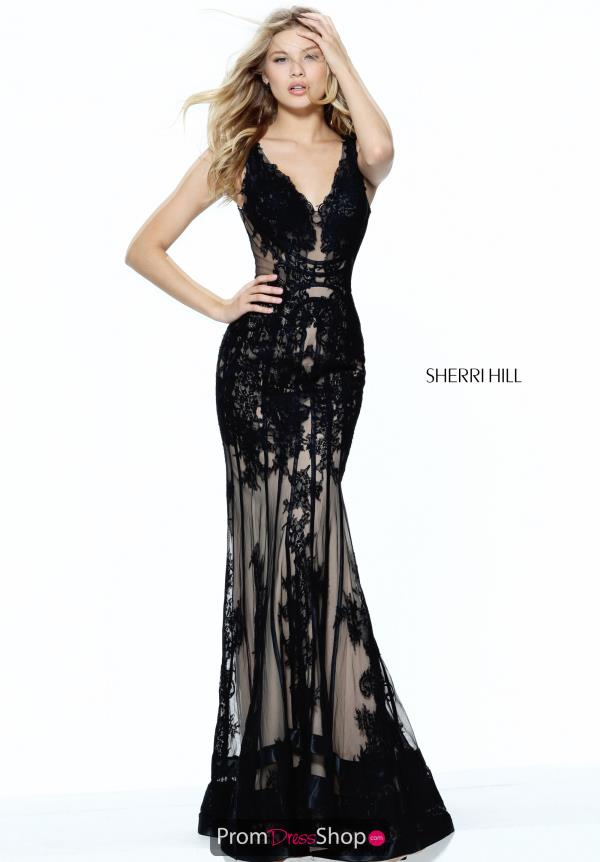 Sherri Hill Fitted Lace Dress 50906