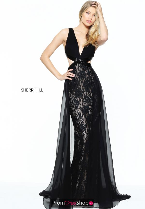 Sherri Hill V- Neckline Fitted Dress 50930