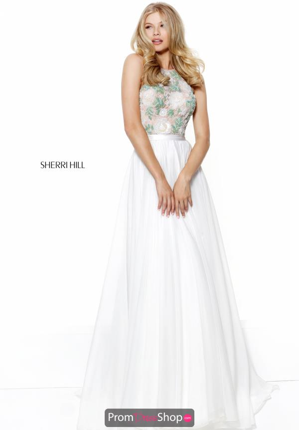 Sherri Hill Long Chiffon Dress 50931