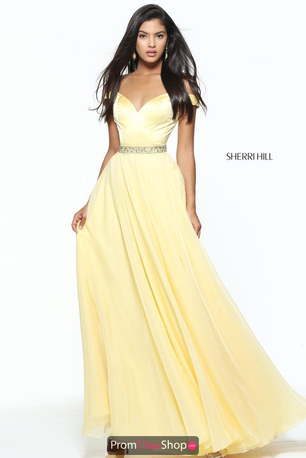 Sherri Hill Chiffon A Line Dress 50943