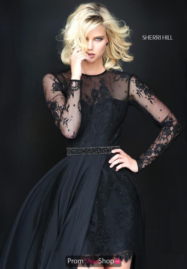 Sherri Hill Long Lace Dress 50949
