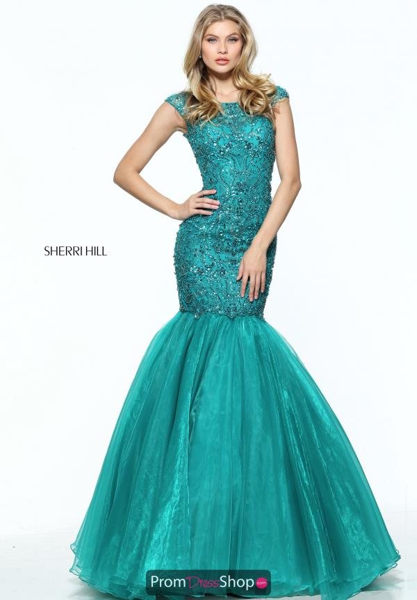 Sherri Hill Long Fitted Dress 50955