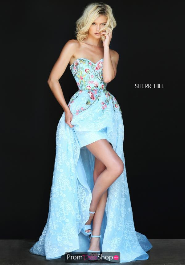 Print High Low Sherri Hill Dress 50966