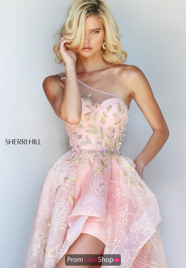 Sherri Hill One Shoulder High Low Dress 50968