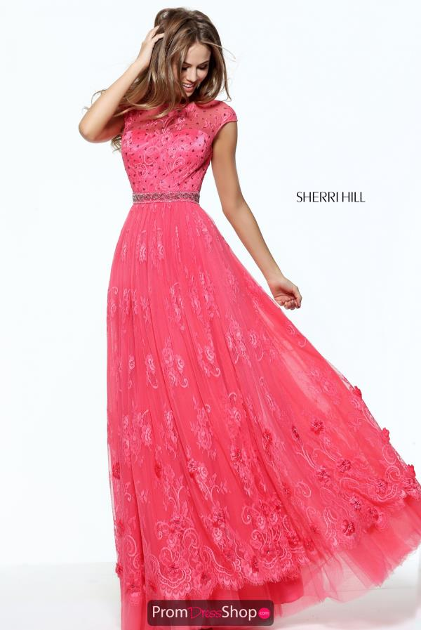 Sherri Hill Sleeved A Line Dress 50969