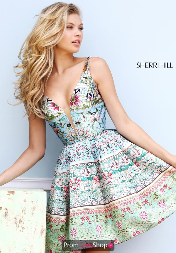 Sherri Hill Short Floral Dress 50781