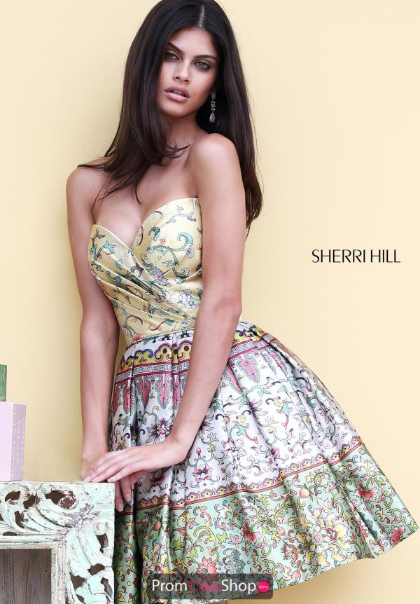 Strapless Sherri Hill Short Dress 50796