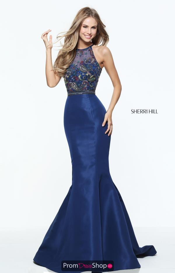 Sherri Hill High Neckline Mermaid Dress 50975