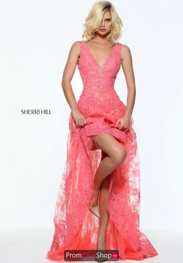 Sherri Hill Lace High Low Dress 50985