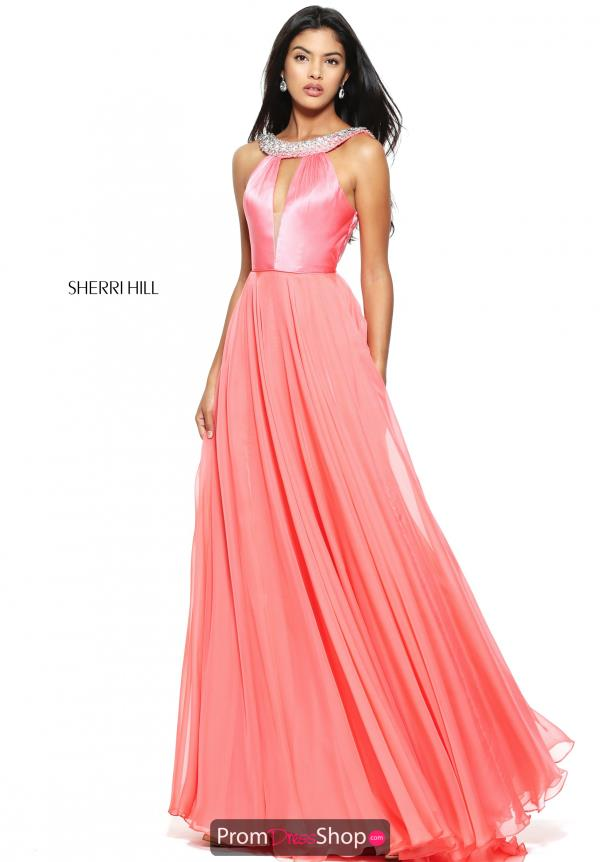 Sherri Hill High Neckline A Line Dress 50988