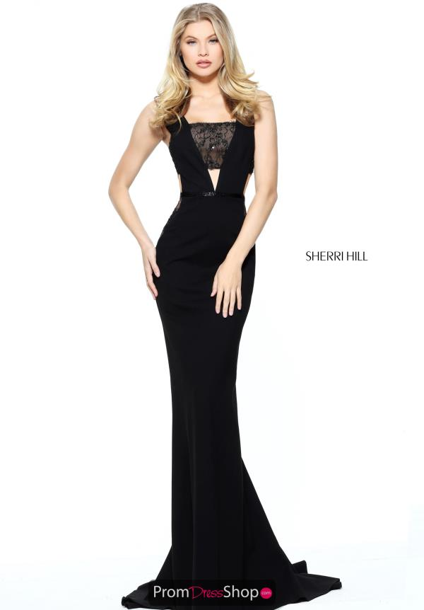 Sherri Hill Long Lace Dress 50997