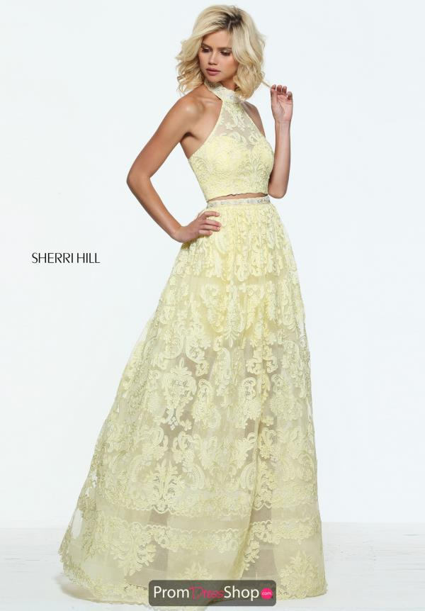 Sherri Hill Lace A Line Dress 51020