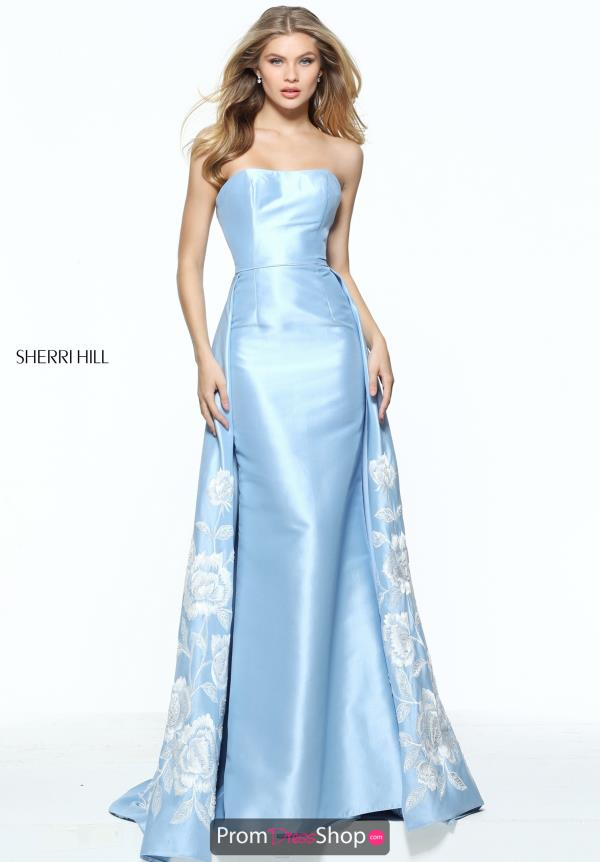 Sherri Hill Blue Fitted Dress 51038