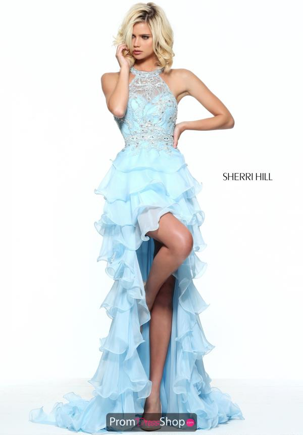 Sherri Hill Chiffon High Low Dress 51050